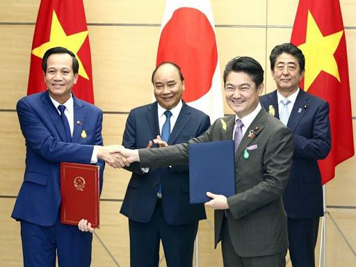 Lễ ký kết bản hợp tác MOC giữa Việt Nam và Nhật Bản