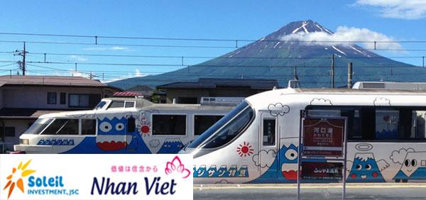 Di chuyển bằng tàu đến núi Phú Sĩ