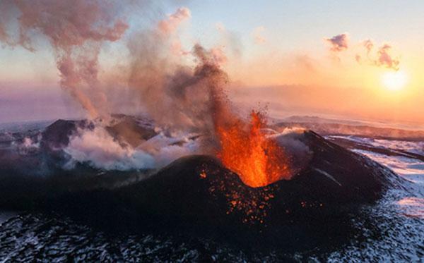 núi phú sĩ phun trào