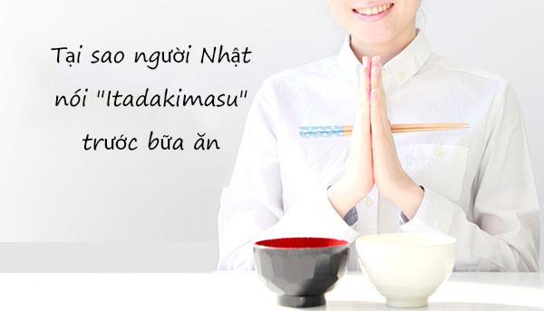 tại sao người nhật nói itadakimasu trước bữa ăn
