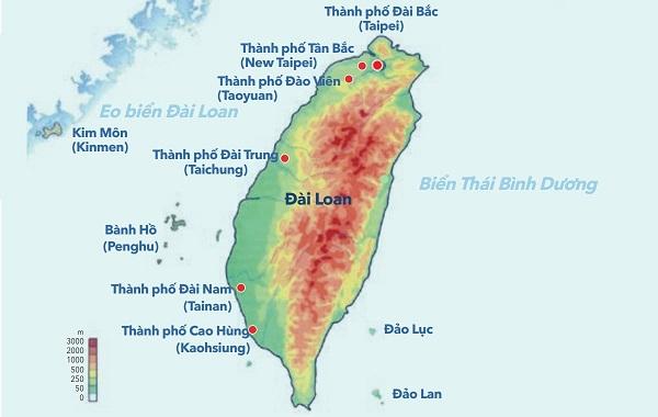 Diện tích, vị trí địa lý, khí hậu đài loan